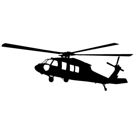 Black Hawk Outline by Black Hawk Helicopter Clipart