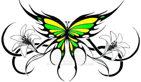 tattoo tribal butterfly tribal flower tattoos tribal butterfly 2 by