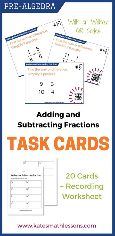 adding fractions card template 17 best images about classroom ideas on henry