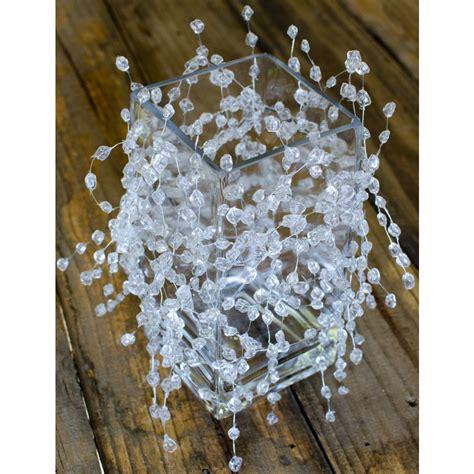 iridescent clear beaded garland 6 gd996 craftoutlet com