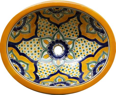 Mexican Ceramic Sink by M 189 Mexican Talavera Ceramic Sink Bathroom Wash Basin 17