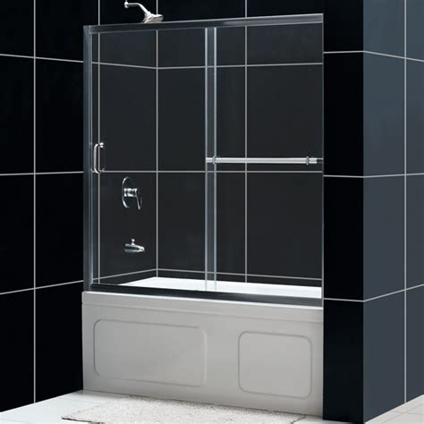 shower doors bathtub dreamline showers infinity plus sliding tub door glass