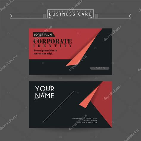 attractive business card templates attractive business card template stock vector
