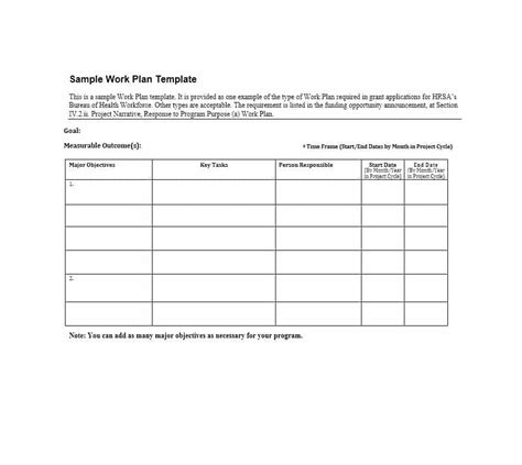 Work Plan 40 Great Templates Sles Excel Word ᐅ Template Lab Work Project Template