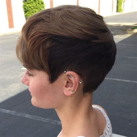 cutting shorter pieces of hair near the 60 classy short haircuts and hairstyles for thick hair