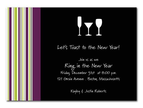 new year dinner invitation wording new year s toast invitations by invitation