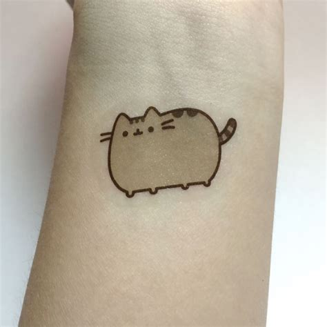 pusheen tattoo pusheen temporary s fashion on carousell