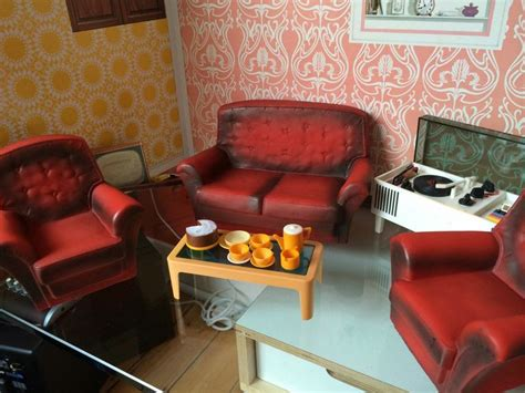 Vintage Living Room Sets Sindy 1970 S Vintage Living Room Set Furniture Sindy En Fleur Meubels Pinterest