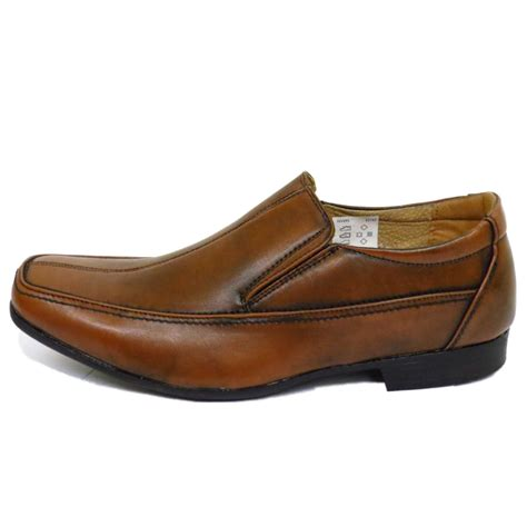 mens brown slip on work wedding smart casual loafers work
