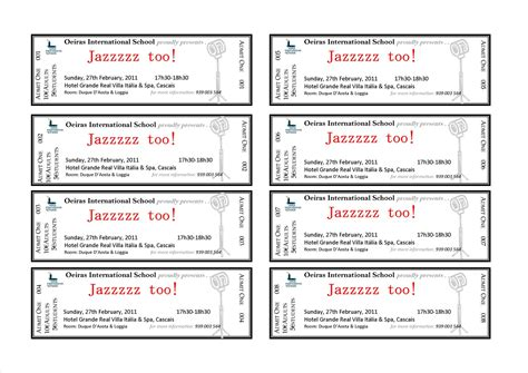 Tickets Template the connected classroom
