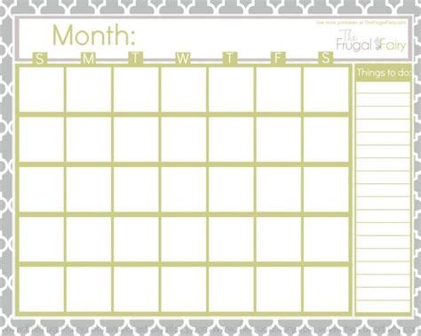 blank calendar printouts calendar printable