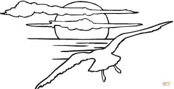 sunset coloring pages seagull in the sunset coloring page free printable
