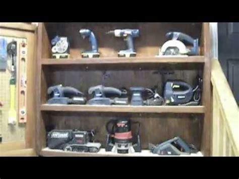 tool display cabinet workshop organization ideas youtube