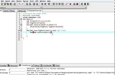 program to make graphs c program vertical bar graph using array