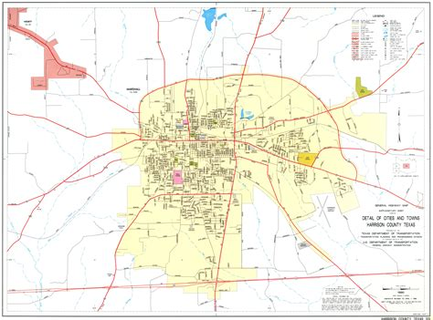 harrison county texas map maps