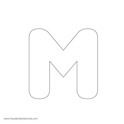 Block M Outline by Letter M Outline Cliparts Co
