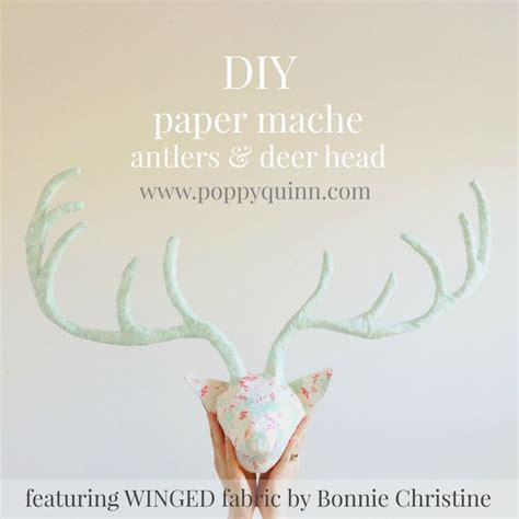 How To Make Paper Mache Antlers - 25 best ideas about paper mache deer on