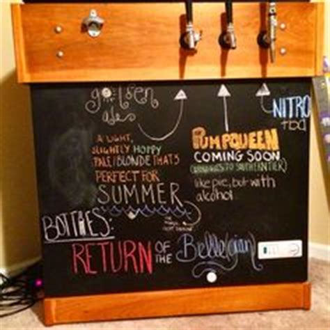 chalkboard paint keezer like the chalk board front to this kegerator black paint