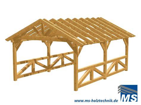 carport inklusive montage carport bausatz f 252 r selbstaufbau oder montage durch ms
