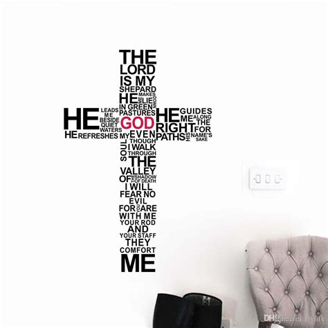 Super Mario Home Decor by Christian Religious Cross Vinyl Quote Wall Decal Home Decor God Wall Art Wall Stickers Super