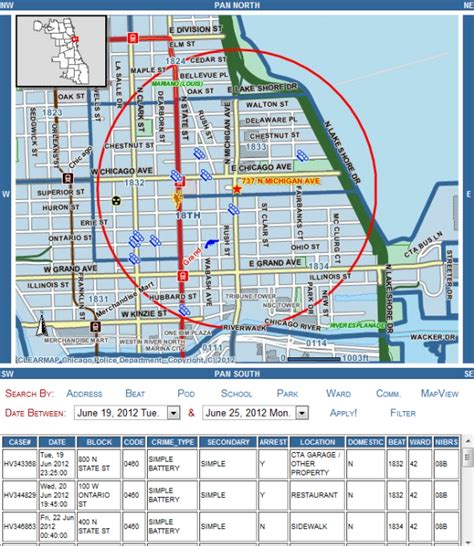 chicago map safe areas is downtown chicago safe how to find out