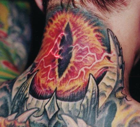 eye of sauron tattoo j r r tolkien inspired tattoos neatorama