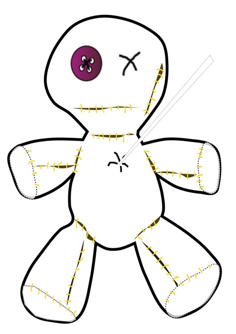 voodoo doll clipart clipartist net 187 clip 187 voodoo doll black white line