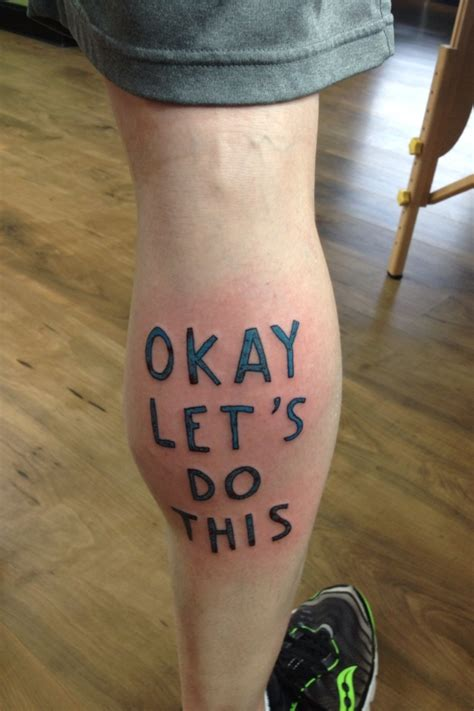 marc johns tattoo excellent tattoo for an ultramarathon