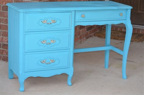Blue Desk by Provincial Turquoise Blue Desk Shabby Chic