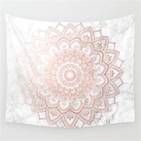 pleasure rose gold wall tapestry  mermaidandunicorn