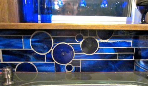 cobalt blue glass tile backsplash custom cobalt backsplash burke murals