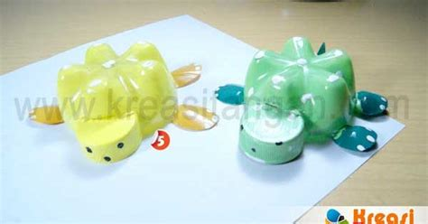 membuat mainan  botol bekas kerajinan tangan pinterest