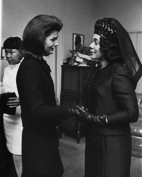 Jackie Kennedy And Coretta Scott King At MLK's Funeral