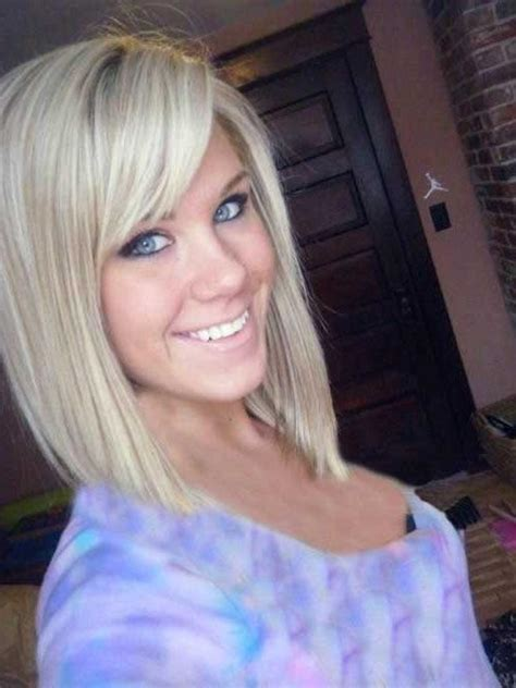 difference in angled and side swoop bangs 15 best ideas of long inverted bob haircuts with bangs