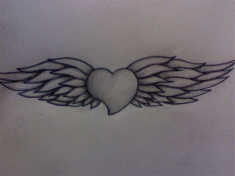 angel heart tattoo designs wings designs