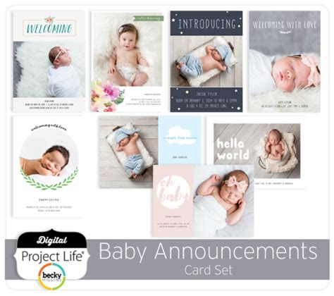 baby sts for card baby announcements card set digitalprojectlife