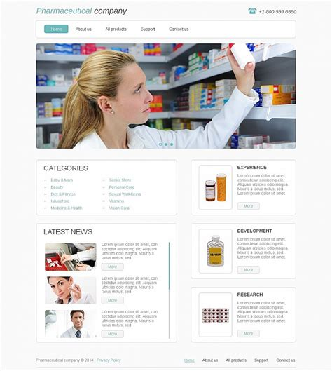 Pharmacy Website Template With White Background Motocms Pharmacy Html Template