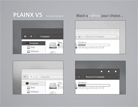 white theme for windows 10 plainx vs theme for windows10 november update 10586
