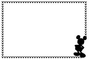 mickey border black and white clipart clipart suggest