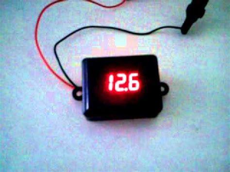 voltímetro digital medidor de bateria 12v youtube