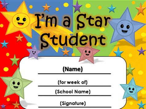 student of the week certificate template the page you requested is unavailable
