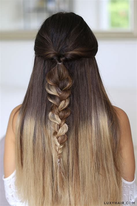 heatless hairstyles for layered hair 5 easy one minute heatless hairstyles luxy hair