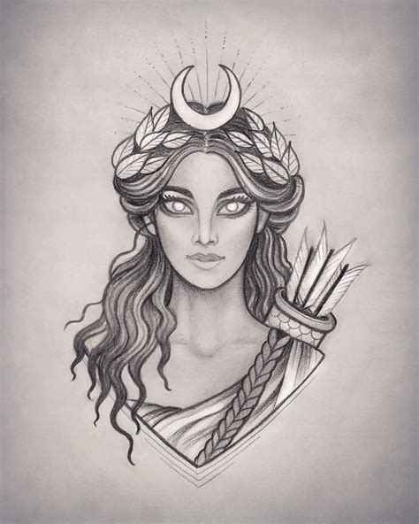 artemis tattoo pin by megan sung on tattoos mythology tattoos