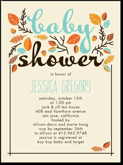 Fall Baby Shower Invites by Sweet Autumn Reef Baby Shower Invitations In Reef