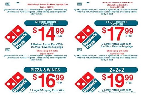 coupon for dominos small pizza