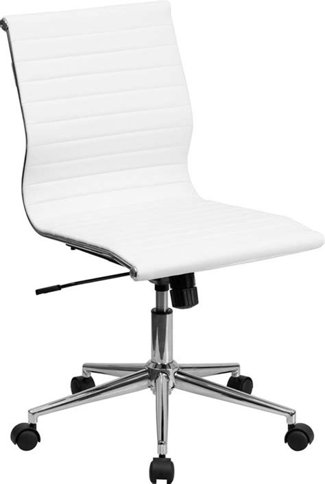 white leather armless office chair white leather conference executive computer office desk
