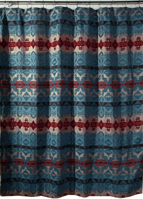 Western Fabric For Curtains 1000 Images About Southwest Bathroom On Pinterest Western Shower Curtains Southwest Style