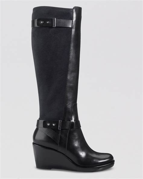 cole haan wedge boots fulton in black lyst