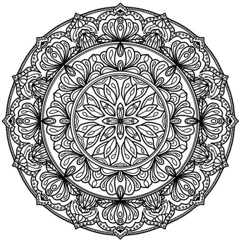 circle mandala coloring page 207 best art zentangle mandala circle images on