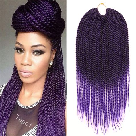 ombre senegalese twists braiding hair 18 quot crochet braids kanekalon braiding hair ombre purple